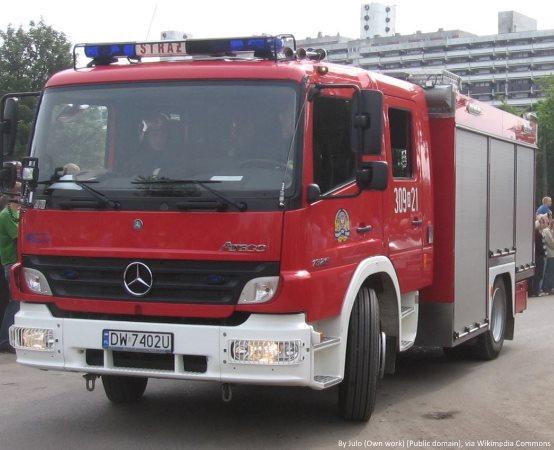 KPPSP Lubliniec: Ognisko w lesie i wypalanie traw